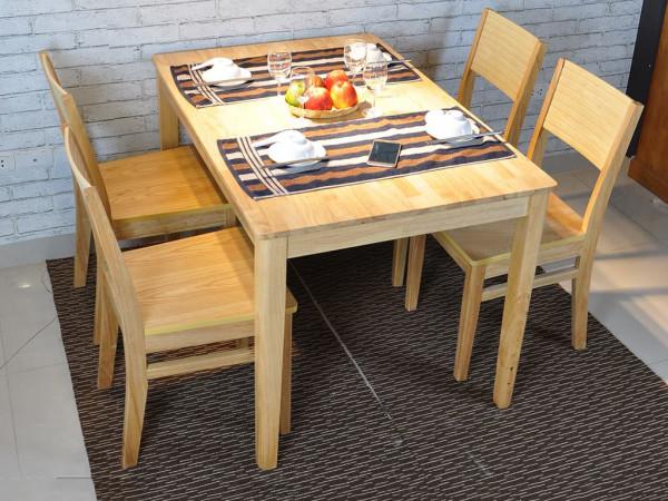 bàn ghế ăn gỗ thông