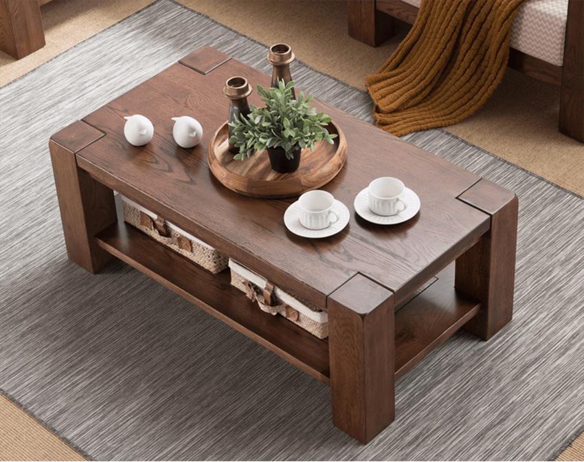 bàn trà gỗ tự nhiên cho phòng khách
