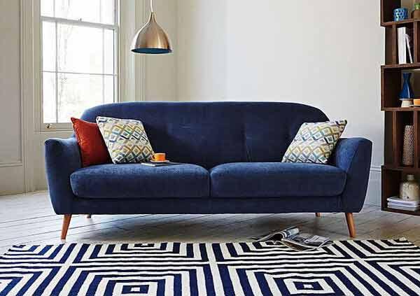 ghế sofa đôi chân gỗ