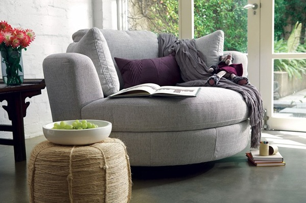 ghế sofa tròn đơn giản