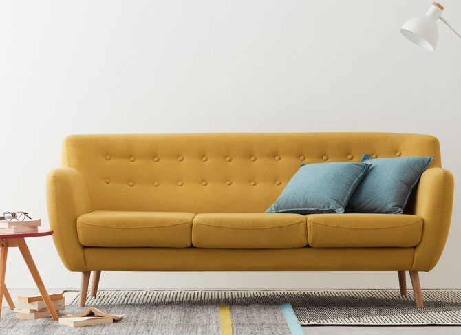 sofa 3 chỗ màu tươi sáng