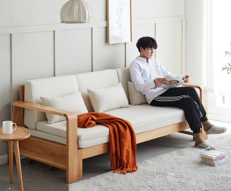 sofa giường gỗ