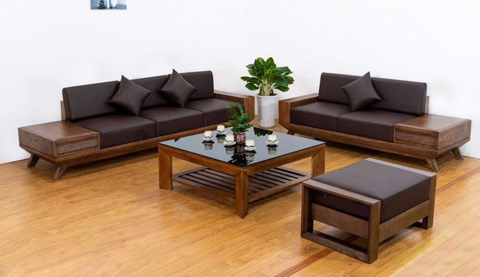 sofa gỗ sồi mỹ