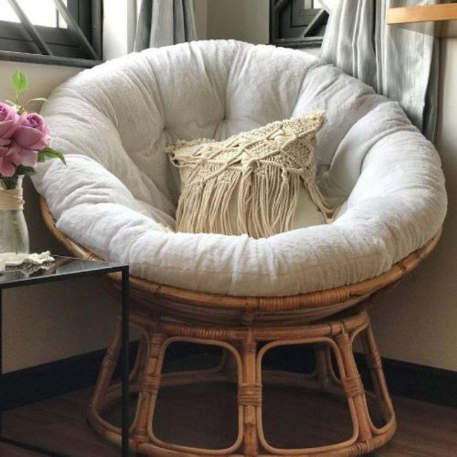 sofa tròn bằng mây tre đan