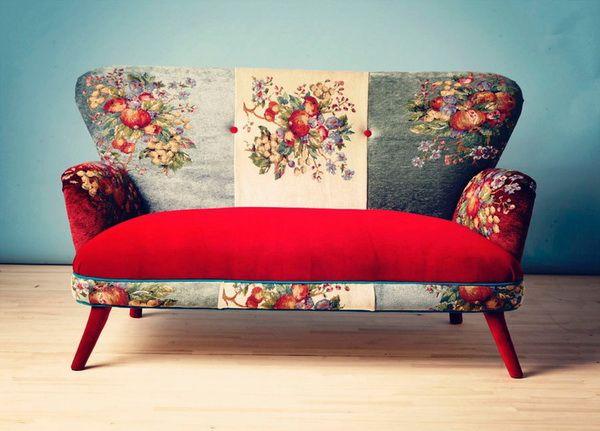 sofa vintage vải hoa