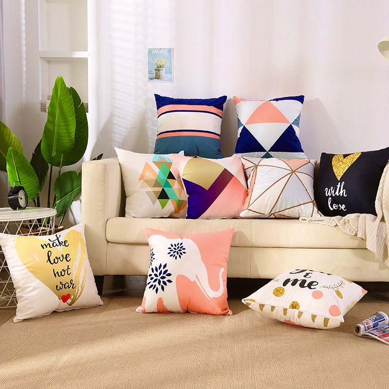 vỏ gối sofa cotton